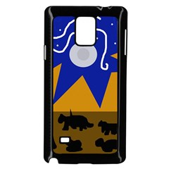 Decorative abstraction Samsung Galaxy Note 4 Case (Black)