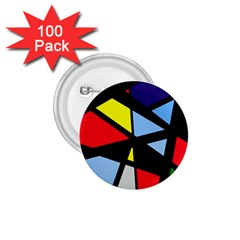 Colorful geomeric desing 1.75  Buttons (100 pack)