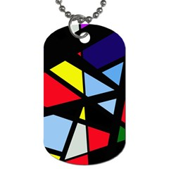 Colorful geomeric desing Dog Tag (One Side)