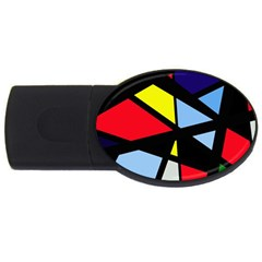 Colorful geomeric desing USB Flash Drive Oval (1 GB)