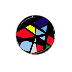 Colorful geomeric desing Hat Clip Ball Marker (4 pack)
