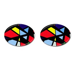 Colorful geomeric desing Cufflinks (Oval)