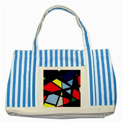 Colorful geomeric desing Striped Blue Tote Bag