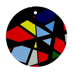 Colorful geomeric desing Round Ornament (Two Sides)