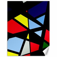 Colorful geomeric desing Canvas 18  x 24