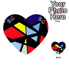 Colorful geomeric desing Playing Cards 54 (Heart)