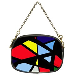 Colorful geomeric desing Chain Purses (Two Sides)