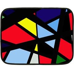 Colorful geomeric desing Double Sided Fleece Blanket (Mini)
