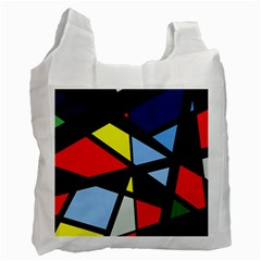 Colorful geomeric desing Recycle Bag (One Side)