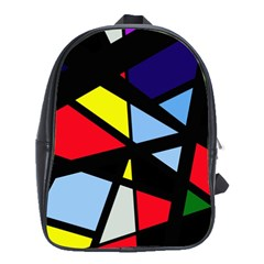 Colorful geomeric desing School Bags(Large)