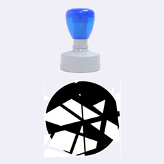 Colorful geomeric desing Rubber Round Stamps (Medium)