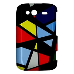 Colorful geomeric desing HTC Wildfire S A510e Hardshell Case