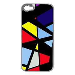 Colorful geomeric desing Apple iPhone 5 Case (Silver)