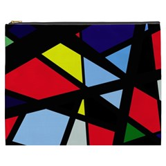 Colorful geomeric desing Cosmetic Bag (XXXL)