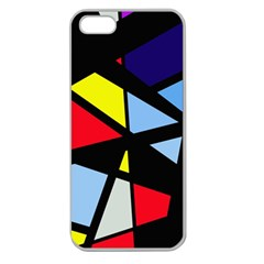 Colorful geomeric desing Apple Seamless iPhone 5 Case (Clear)