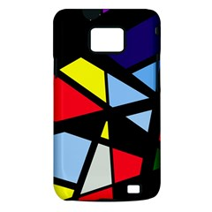 Colorful geomeric desing Samsung Galaxy S II i9100 Hardshell Case (PC+Silicone)
