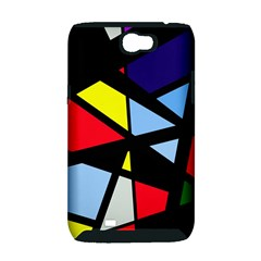 Colorful geomeric desing Samsung Galaxy Note 2 Hardshell Case (PC+Silicone)