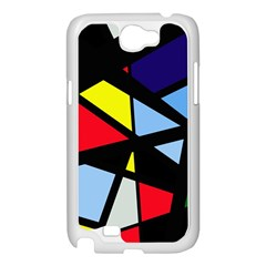 Colorful geomeric desing Samsung Galaxy Note 2 Case (White)