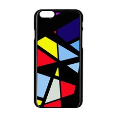 Colorful geomeric desing Apple iPhone 6/6S Black Enamel Case