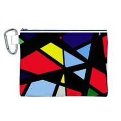 Colorful geomeric desing Canvas Cosmetic Bag (L)