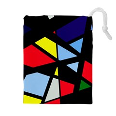 Colorful geomeric desing Drawstring Pouches (Extra Large)