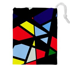 Colorful geomeric desing Drawstring Pouches (XXL)
