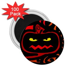 Halloween pumpkin 2.25  Magnets (100 pack)