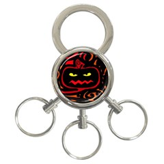Halloween pumpkin 3-Ring Key Chains