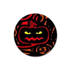 Halloween pumpkin Magnet 3  (Round)