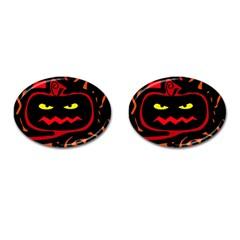 Halloween pumpkin Cufflinks (Oval)