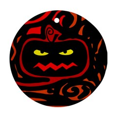 Halloween pumpkin Round Ornament (Two Sides)