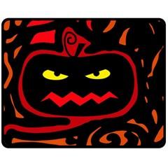 Halloween pumpkin Fleece Blanket (Medium)