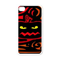 Halloween pumpkin Apple iPhone 4 Case (White)