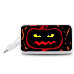 Halloween pumpkin Portable Speaker (White)