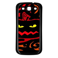Halloween pumpkin Samsung Galaxy S3 Back Case (Black)