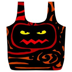 Halloween pumpkin Full Print Recycle Bags (L)