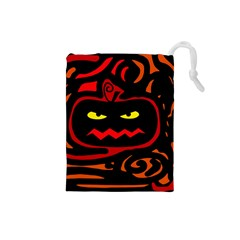 Halloween pumpkin Drawstring Pouches (Small)