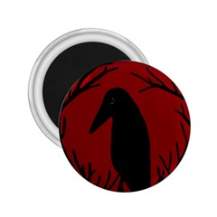 Halloween raven - red 2.25  Magnets