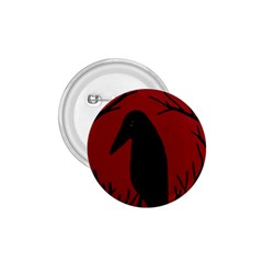 Halloween raven - red 1.75  Buttons