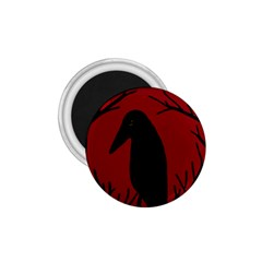 Halloween raven - red 1.75  Magnets