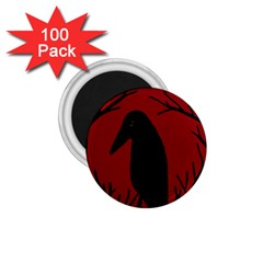 Halloween raven - red 1.75  Magnets (100 pack)