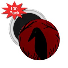 Halloween raven - red 2.25  Magnets (100 pack)