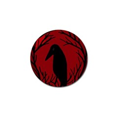 Halloween raven - red Golf Ball Marker (10 pack)