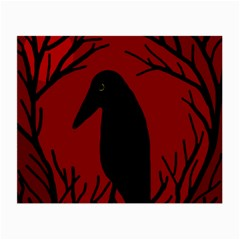 Halloween raven - red Small Glasses Cloth