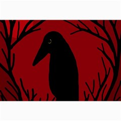 Halloween raven - red Collage Prints