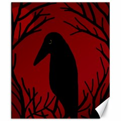 Halloween raven - red Canvas 20  x 24
