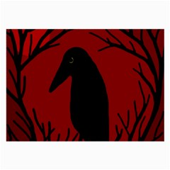 Halloween raven - red Large Glasses Cloth