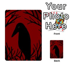 Halloween raven - red Multi-purpose Cards (Rectangle)