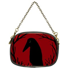 Halloween raven - red Chain Purses (One Side)