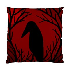 Halloween raven - red Standard Cushion Case (One Side)